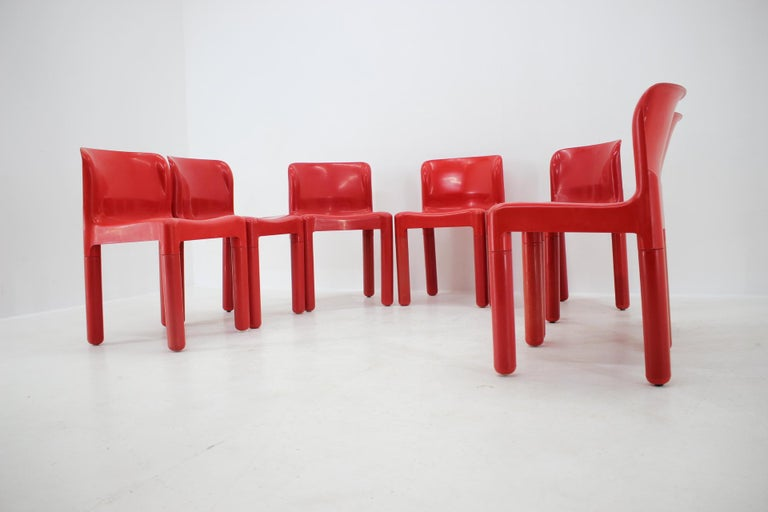 Set of Seven Chairs Kartell Designed by Carlo Bartoli, Italy, 1980s For Sale 3
