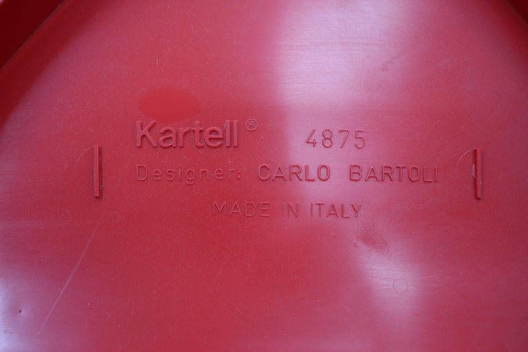 Set of Seven Chairs Kartell Designed by Carlo Bartoli, Italy, 1980s For Sale 4