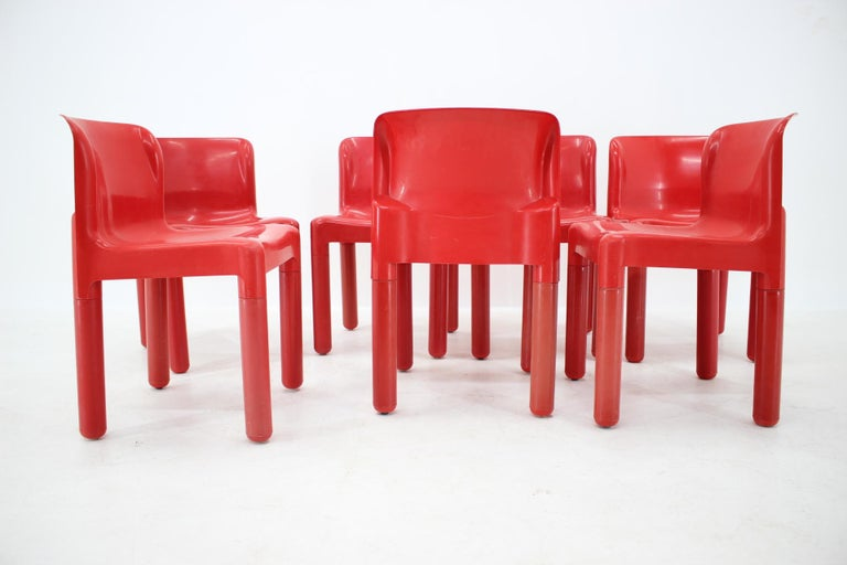 Set of Seven Chairs Kartell Designed by Carlo Bartoli, Italy, 1980s In Good Condition For Sale In Praha, CZ
