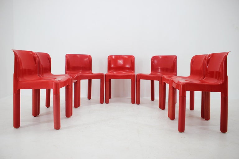 Late 20th Century Set of Seven Chairs Kartell Designed by Carlo Bartoli, Italy, 1980s For Sale