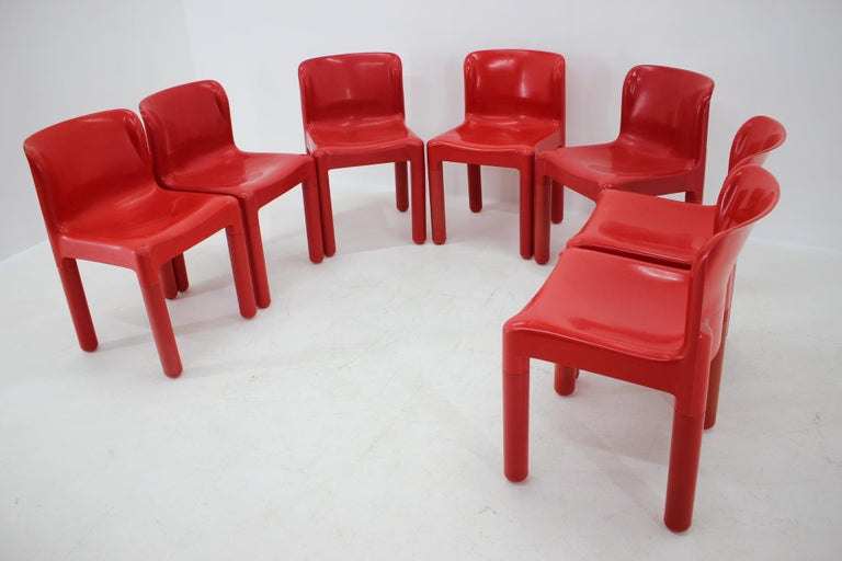 Set of Seven Chairs Kartell Designed by Carlo Bartoli, Italy, 1980s For Sale 1