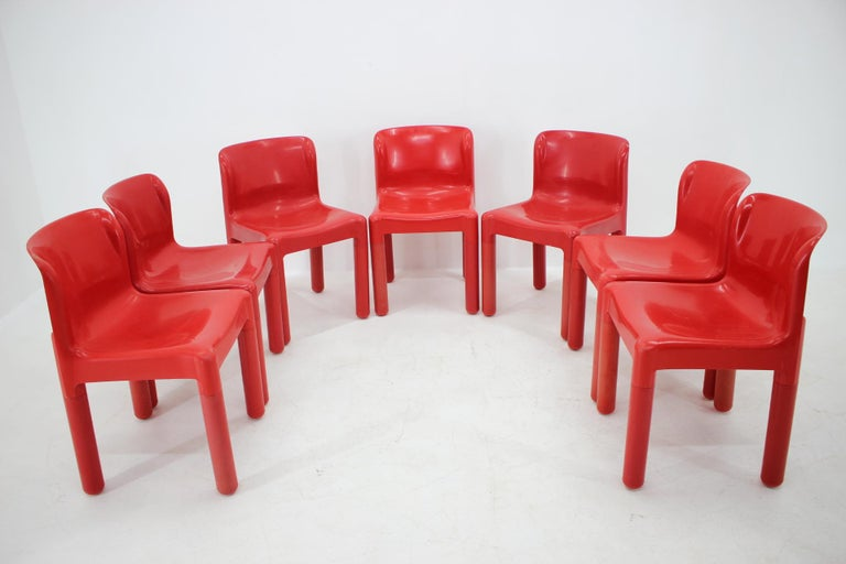 Set of Seven Chairs Kartell Designed by Carlo Bartoli, Italy, 1980s For Sale 2