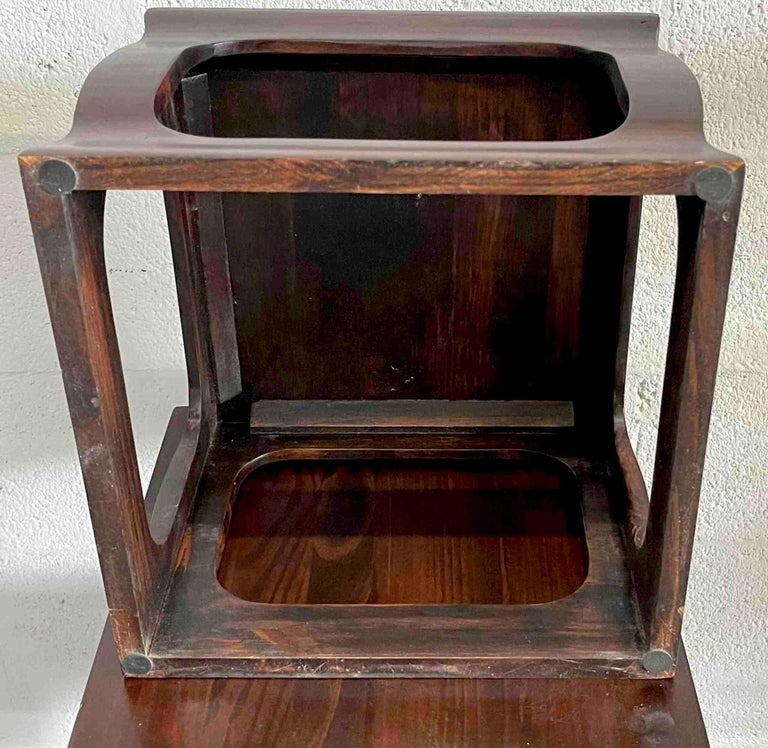 Set of Seven Chinese Export Stacking Campaign Style Pedestals For Sale 4