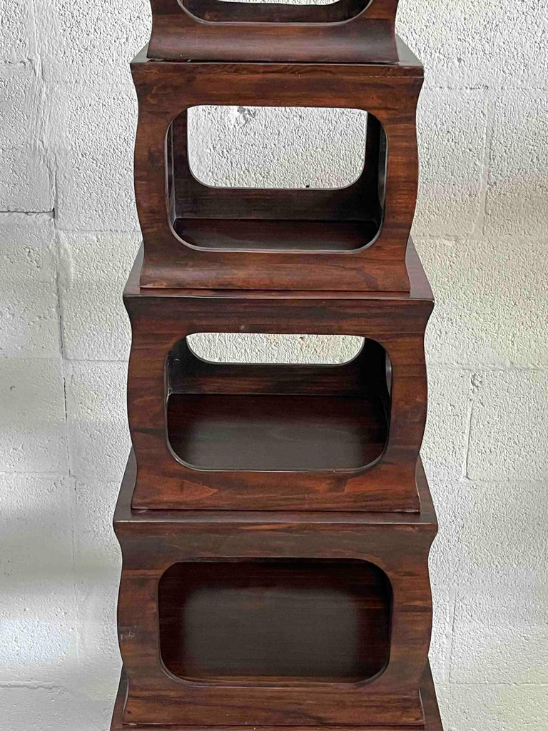 Set of Seven Chinese Export Stacking Campaign Style Pedestals For Sale 1