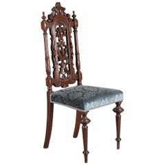 Set of Seven Dining Chairs in Baroque Style