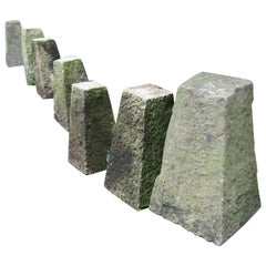 Set of Seven Early 19th English Stone Staddle Stones Garden Feature