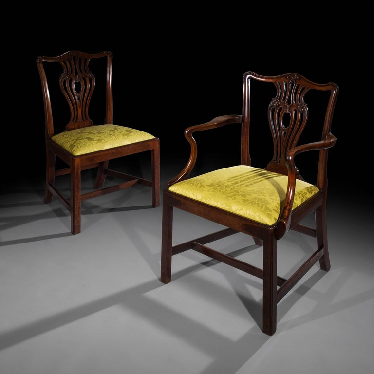 Chippendale Dining Room Chairs Circa