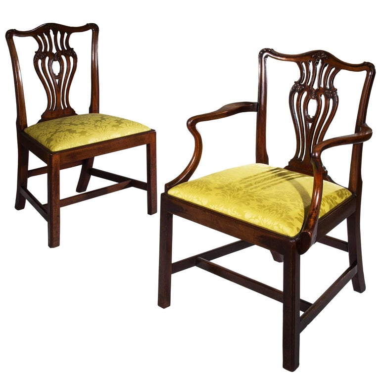 chippendale dining chairs. Set Of Seven English 18th Century Chippendale Mahogany Dining Chairs