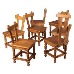 Set of Seven Fire Place Chairs