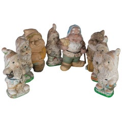 Set of Seven Gnomes