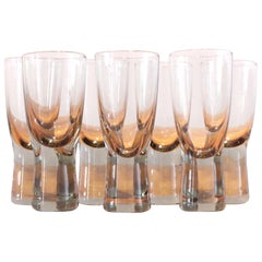 Set of Seven Holmegaard Canada Wine Glasses by Per Lutken