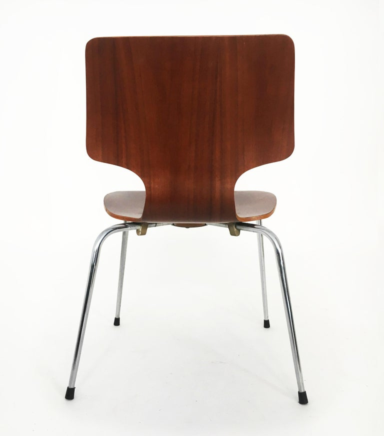 Mid-20th Century Danish Modern Teak Dining Chairs, Set of Seven, Denmark 1960s For Sale