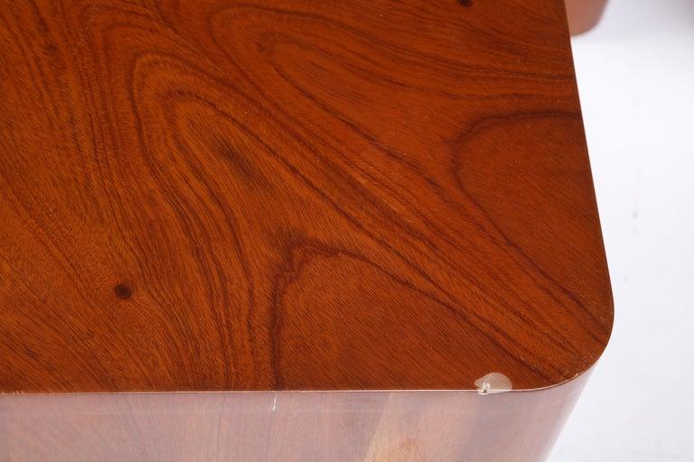 Set of Seven Petal-Form Side Tables, Designed by Juan Montoya, Modern For Sale 9