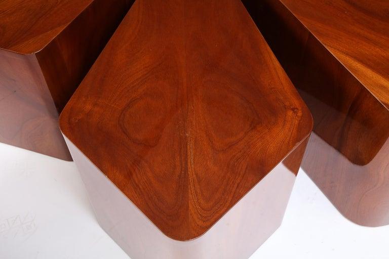 Set of Seven Petal-Form Side Tables, Designed by Juan Montoya, Modern For Sale 12