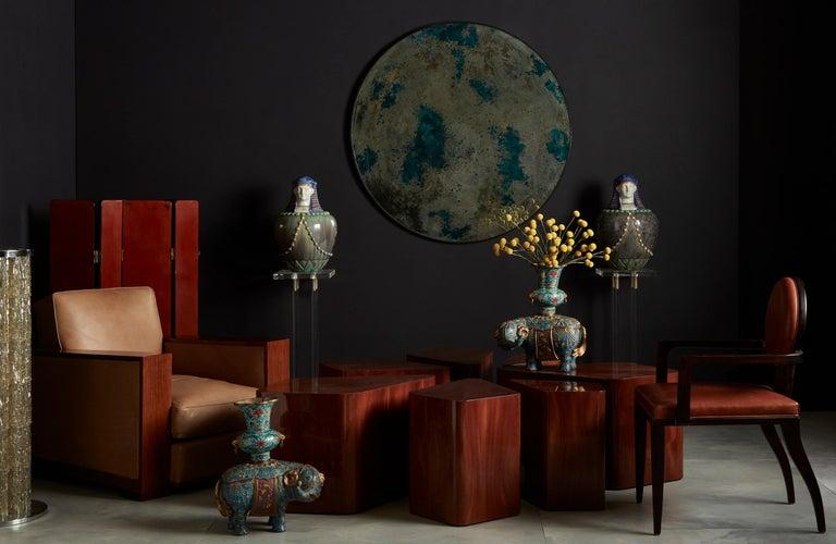 20th Century Set of Seven Petal-Form Side Tables, Designed by Juan Montoya, Modern For Sale