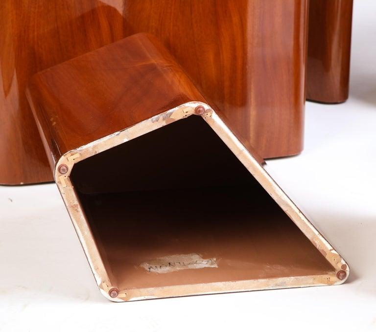 Set of Seven Petal-Form Side Tables, Designed by Juan Montoya, Modern For Sale 4
