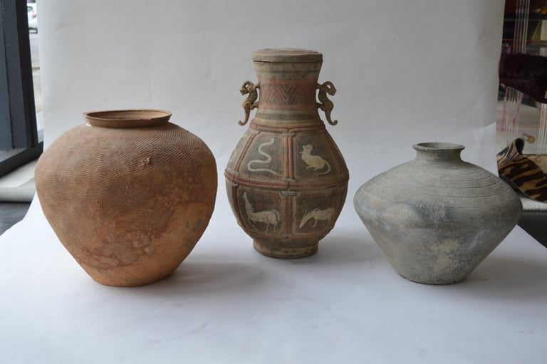 A variety of seven Zhou dynasty vases. Dated 500-300 B.C.