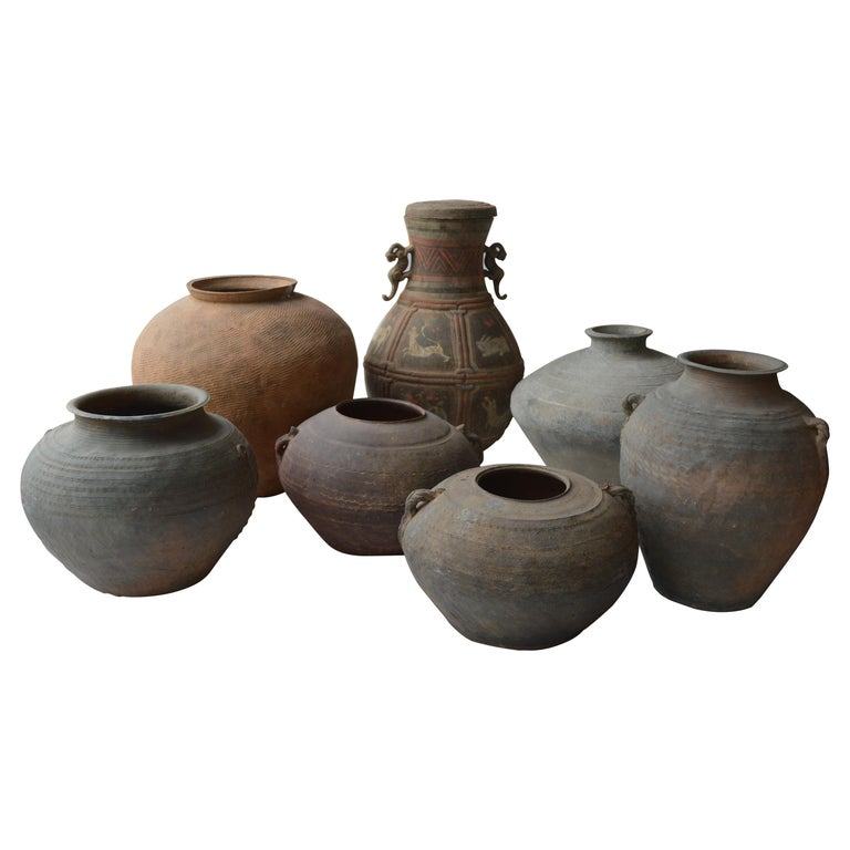 Set of Seven Zhou Dynasty Vases For Sale