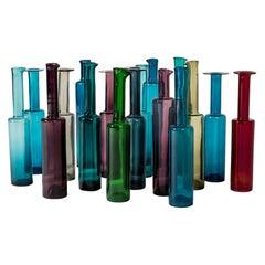 Set of Seventeen Glass Bottles by Nanny Still