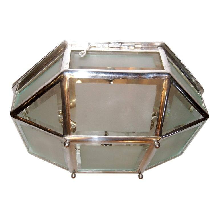 Mid-20th Century Set of Silver Plated Flush Mounted Fixtures, Sold Individually For Sale