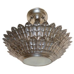 Set of Silver Plated Sunburst Light Fixtures, Sold Individually