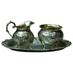Set of Silver Vessels from the First Half of the 20th Century