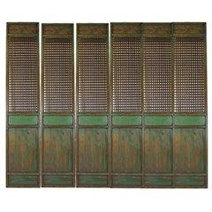 Set of Six Antique Chinese Lattice Panels