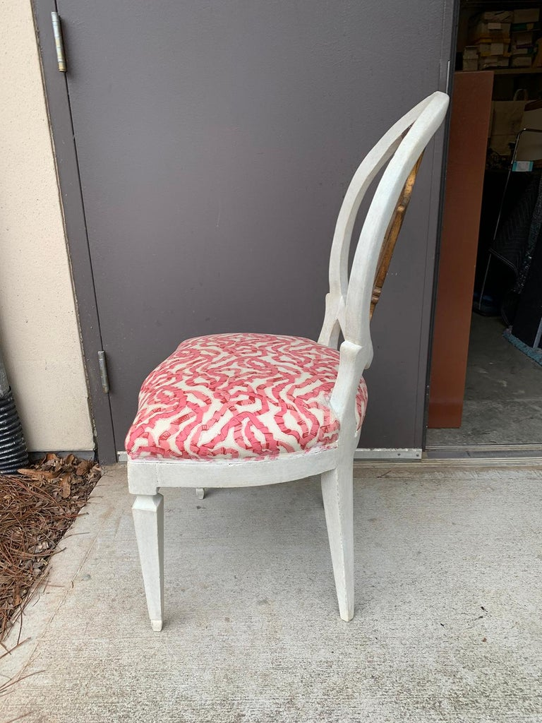 Set of Six 18th-19th Century Italian Painted Side Chairs, Custom Finish For Sale 5