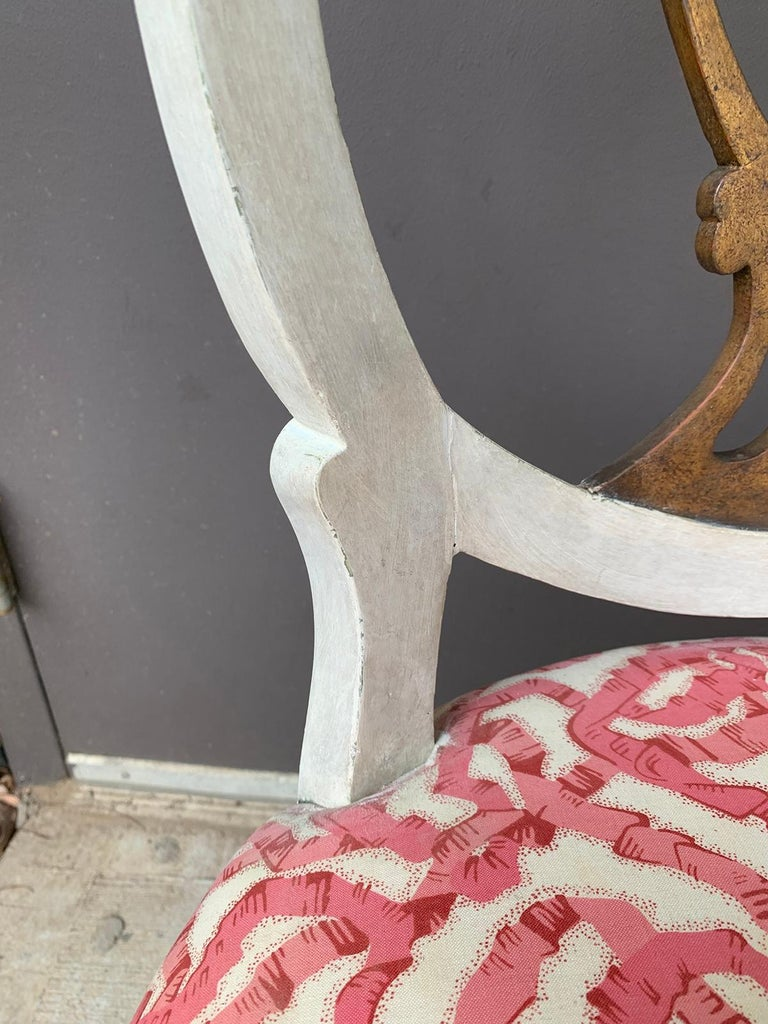 Set of Six 18th-19th Century Italian Painted Side Chairs, Custom Finish For Sale 8