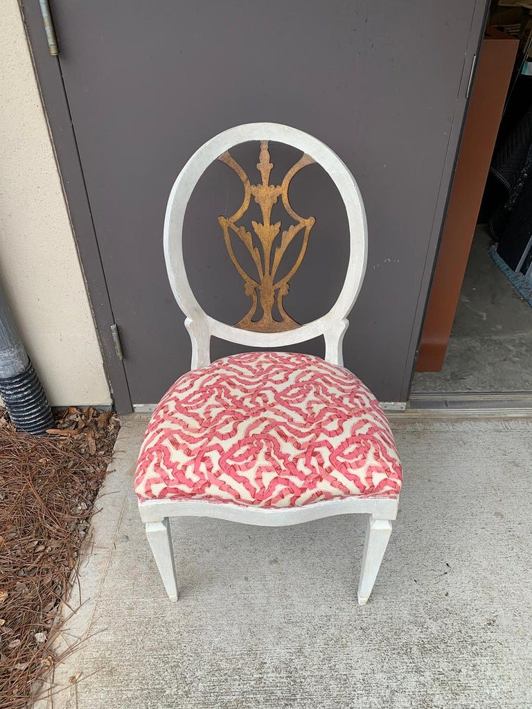 Set of Six 18th-19th Century Italian Painted Side Chairs, Custom Finish For Sale 10