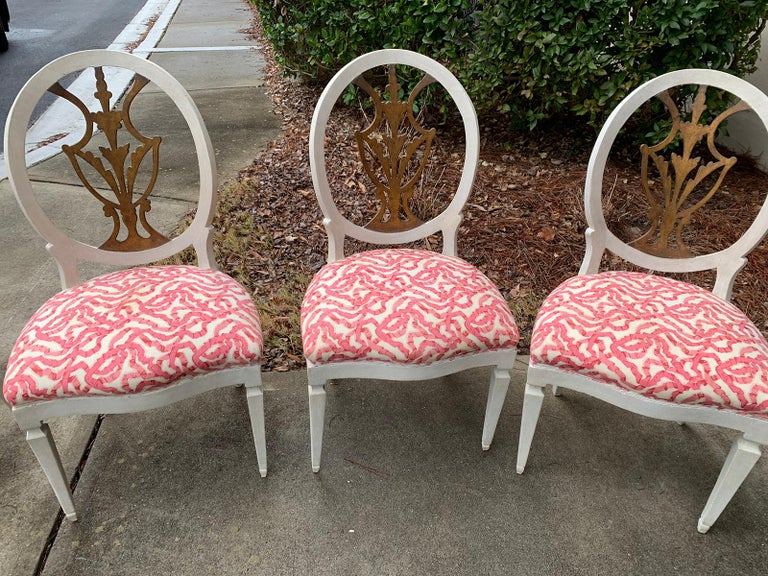 Set of Six 18th-19th Century Italian Painted Side Chairs, Custom Finish In Good Condition For Sale In Atlanta, GA