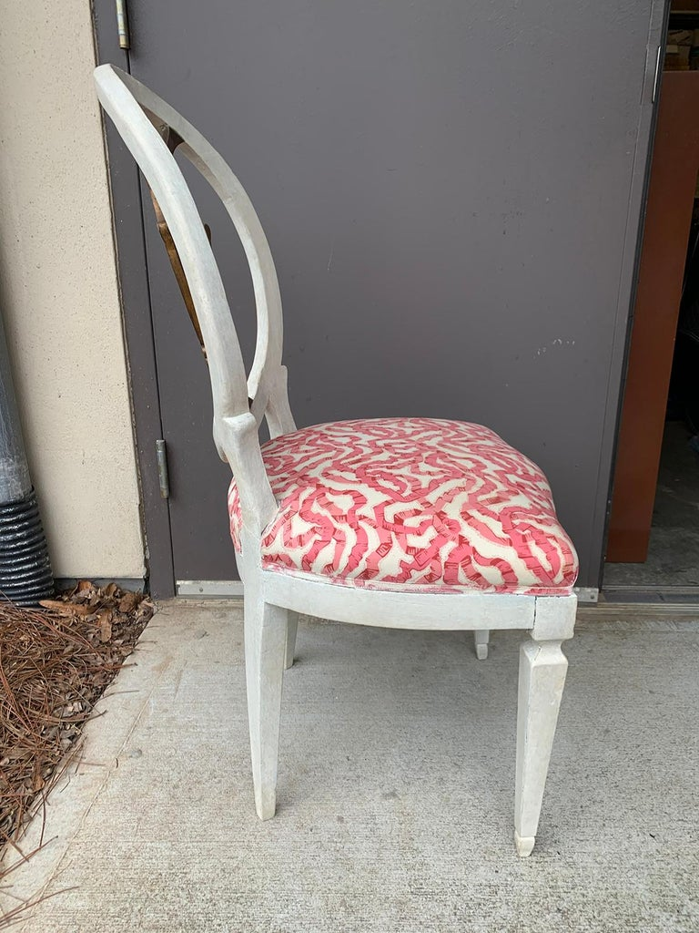 Set of Six 18th-19th Century Italian Painted Side Chairs, Custom Finish For Sale 2