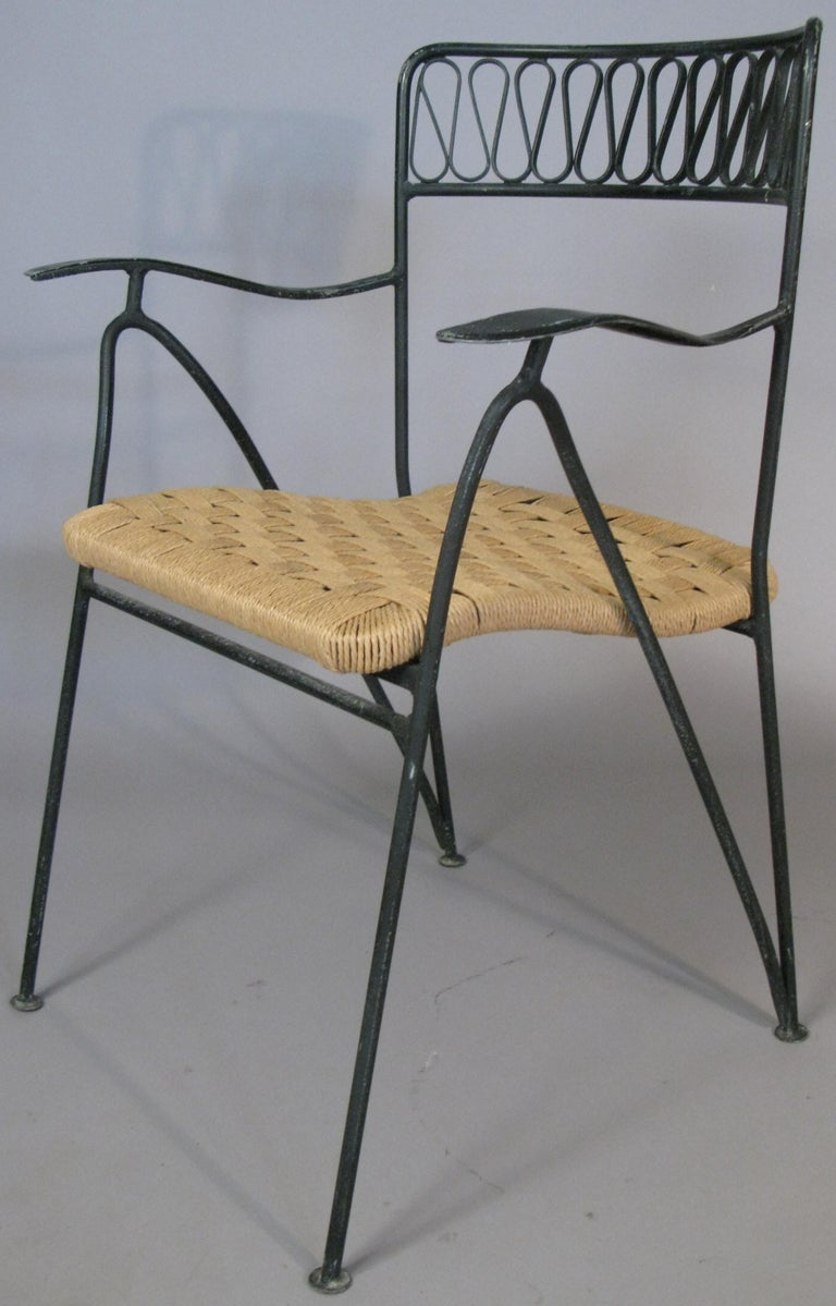 Mid-Century Modern Set of Six 1950s Dining Chairs by Tempestini for Salterini For Sale