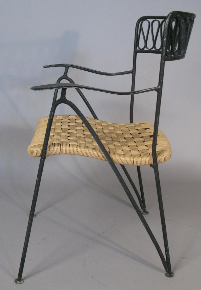 Mid-20th Century Set of Six 1950s Dining Chairs by Tempestini for Salterini For Sale