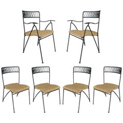 Set of Six 1950s Dining Chairs by Tempestini for Salterini