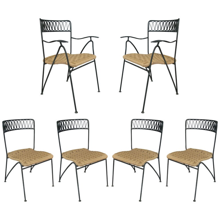 Set of Six 1950s Dining Chairs by Tempestini for Salterini For Sale