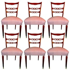 Set of Six 1950's Italian Dining Chairs
