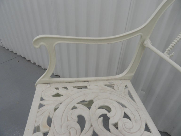 Set of Six 1950s Molla Cast Aluminum Seahorse Garden Armchairs For Sale 5