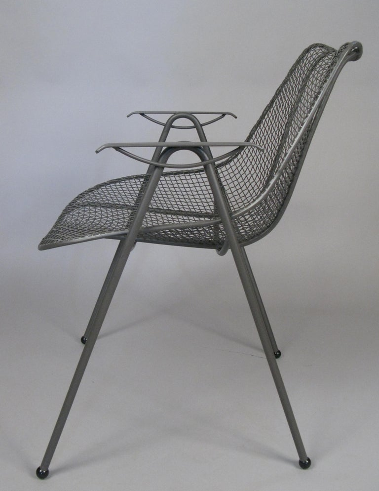 Set of Six 1950s Woodard Sculptura Dining Chairs In Good Condition For Sale In Hudson, NY