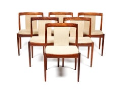 Set of six 1960's rosewood dining chairs attributed to Heltborg Møbler, Denmark