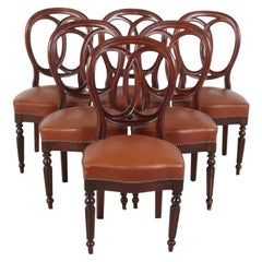Set of Six 19th Century French Mahogany Chairs