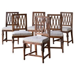 Set of Six 19th Century Gustavian Dining Chairs