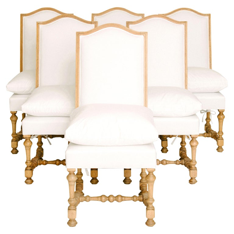 Set of Six 19th Century Louis XIV Style Dining Chairs For Sale