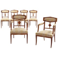 Set of Six 19th Century Mahogany and Gilt-Metal Mounted Dining Chairs, Probably