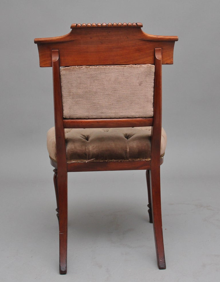 British Set of Six 19th Century Mahogany Dining Chairs For Sale