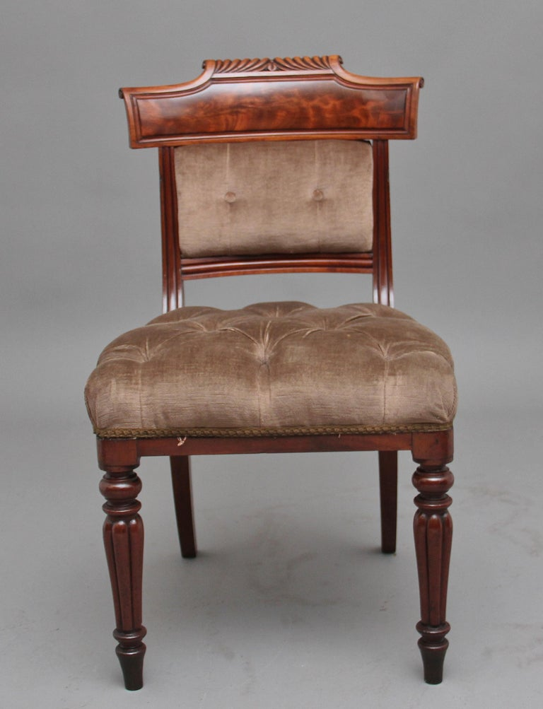 Mid-19th Century Set of Six 19th Century Mahogany Dining Chairs For Sale