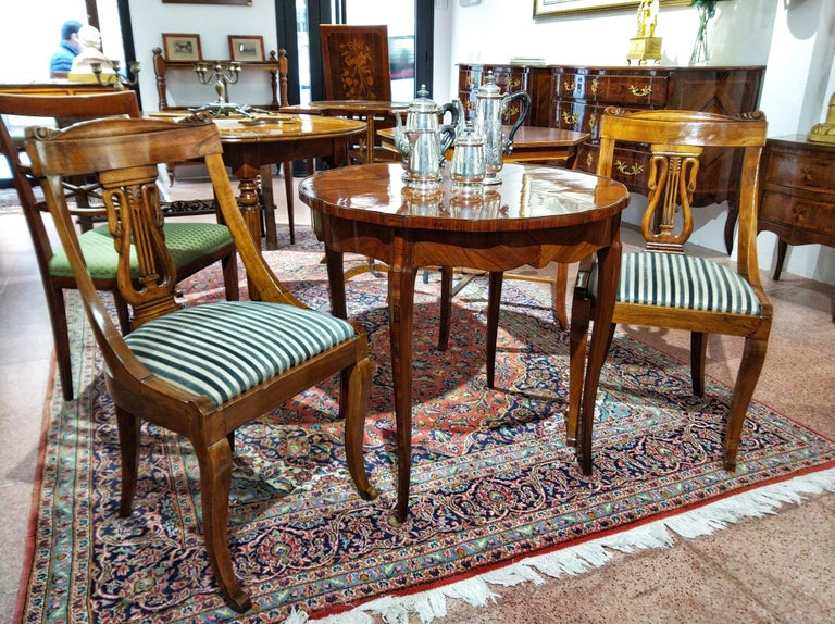 Excellent Set Of Six 19Th Century Napoleon Iii Walnut Gondola Chairs Restored Last Price Machost Co Dining Chair Design Ideas Machostcouk