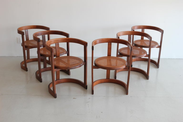 Set of Six A. G. Dining Chairs In Good Condition For Sale In Los Angeles, CA