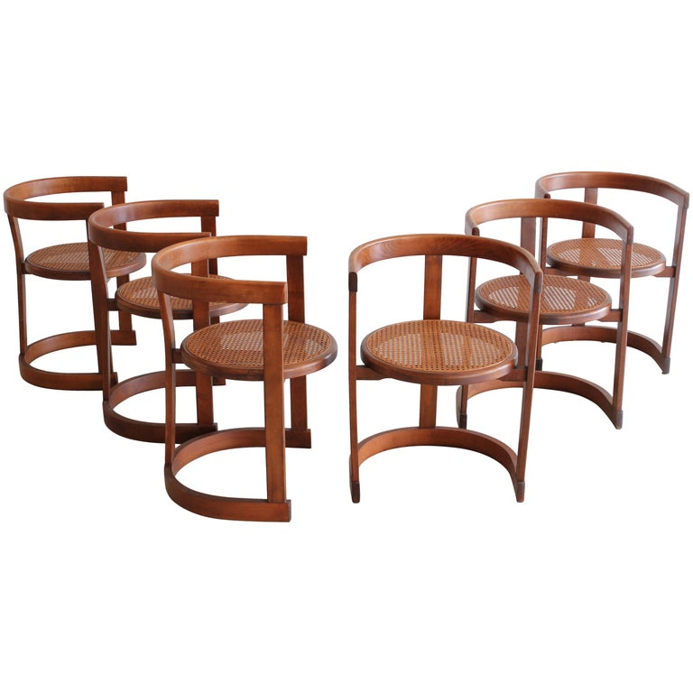 Set of Six A. G. Dining Chairs For Sale