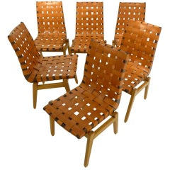 Set of Six Abel Sorenson Chairs for Knoll
